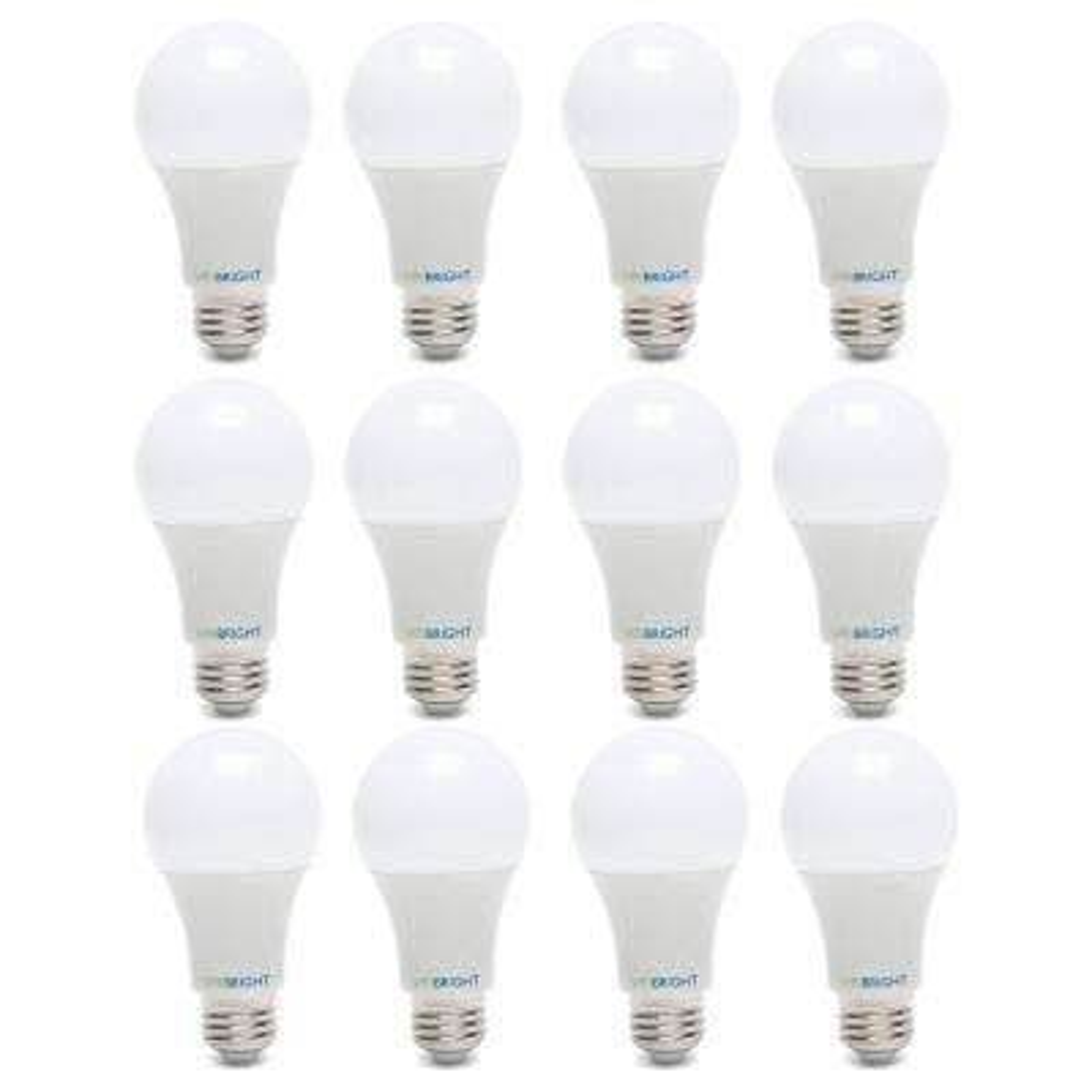 60-Watt Equivalent Cool White (4000K) A19 E26 Base LED Light Bulbs (12-Pack)