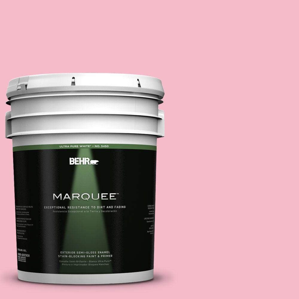 5-gal. #120C-2 Pink Punch Semi-Gloss Enamel Exterior Paint