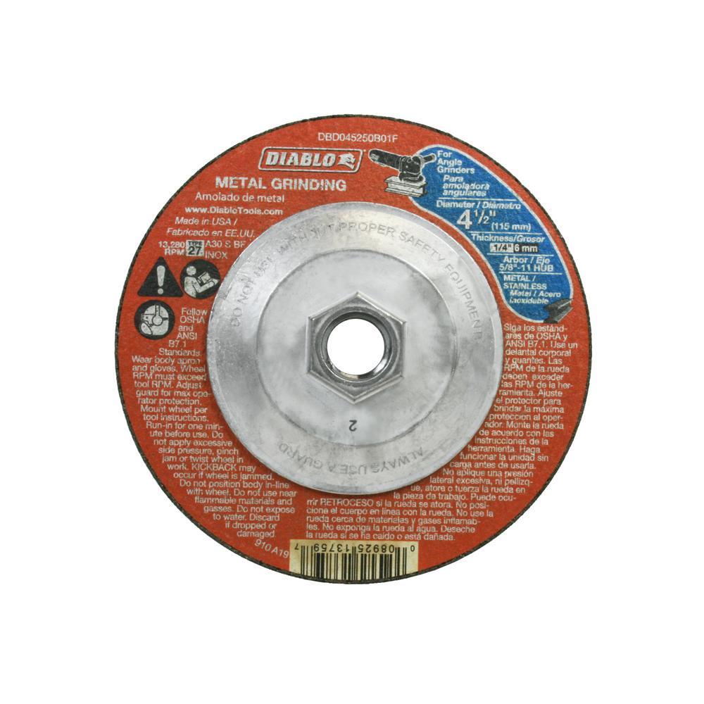 4-1/2 in. x 1/4 in. x 5/8-11 in. Hub Type 27 Metal-Cut Off Disc