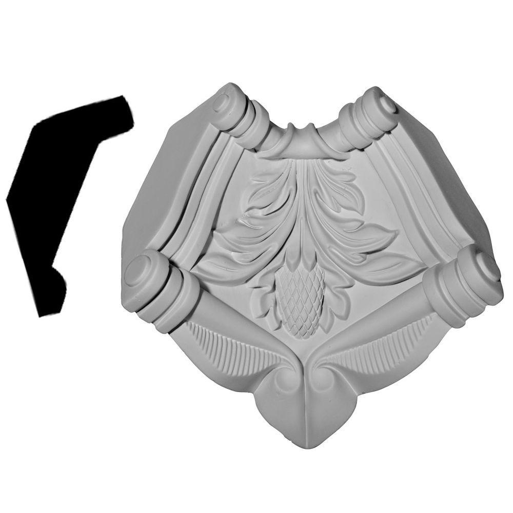 3-5/8 in. x 3-5/8 in. x 4-3/4 in. Polyurethane Modena Inside Corner for Moulding Profiles