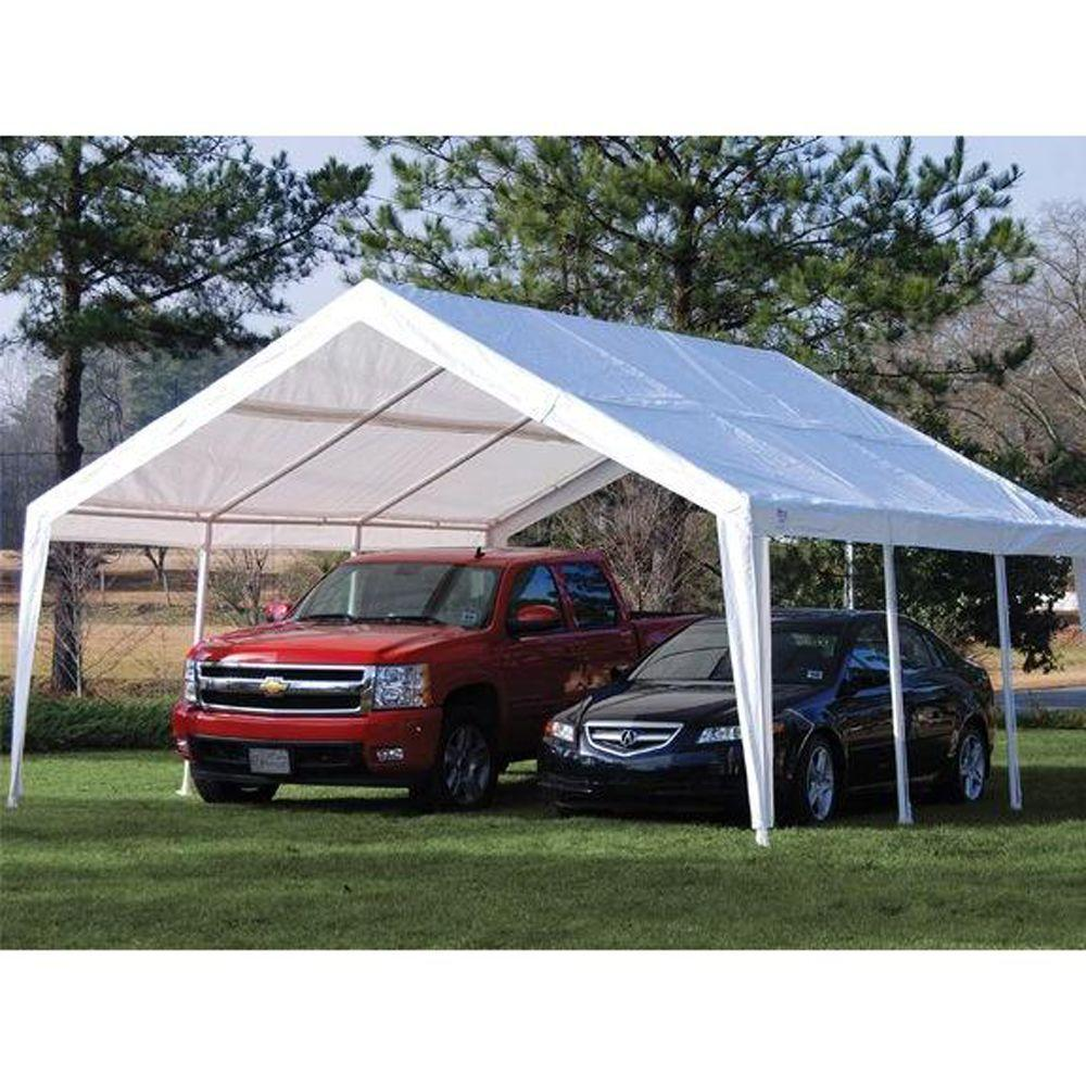 King Canopy 12 ft  W x 20 ft  D Steel Expandable Canopy