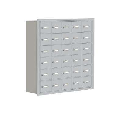 19000 Series 37 in. W x 36.5 in. H x 8.75 in. D 30 A Doors R-Mount Keyed Locks Cell Phone Locker in Aluminum