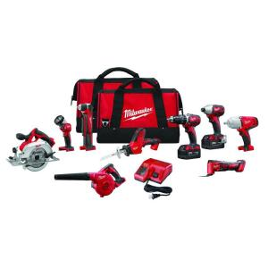 Milwaukee M18 18-Volt Lithium-Ion Cordless Combo Kit (9-Tool) Deals