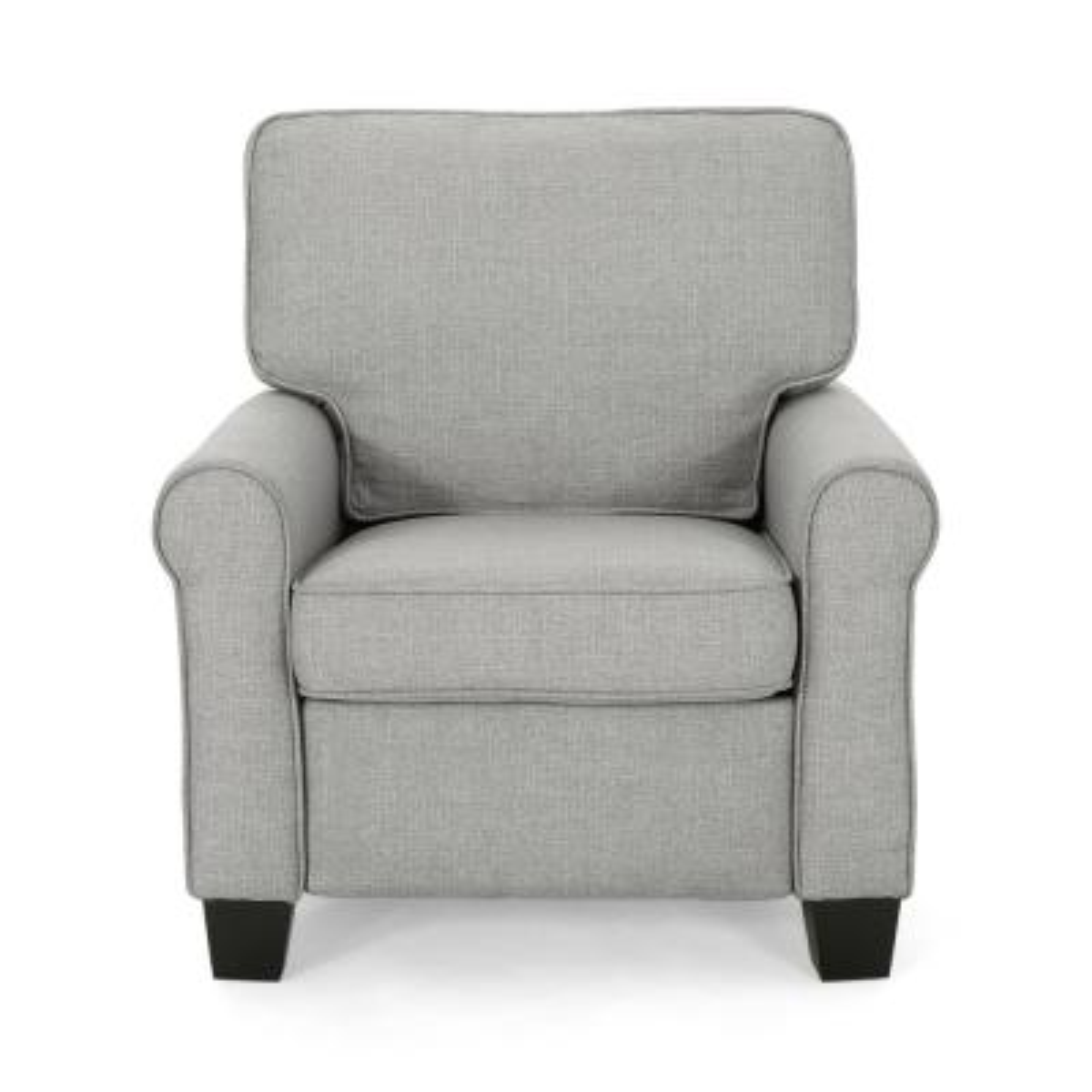 Cornelius Mid-Century Modern Gray Fabric Club Chair