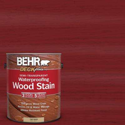 1 gal. #ST-112 Barn Red Semi-Transparent Waterproofing Exterior Wood Stain