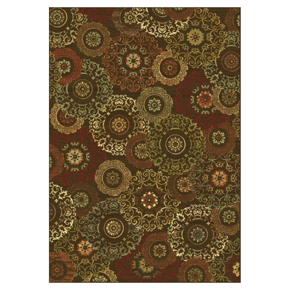 Kas Rugs Retro Finish Mocha 7 ft. 10 in. x 11 ft. 2 in. Area Rug