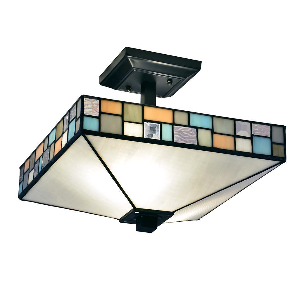 black square semi flushmount lights lighting the home depot
