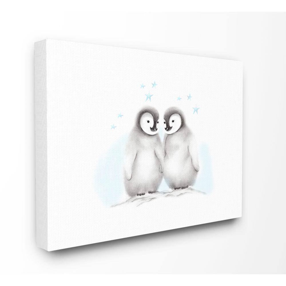 The Kids Room By Stupell 16 In X 20 In Cute Cartoon Baby Penguins Bird Zoo Painting By Studio Q Canvas Wall Art Brp 2406 Cn 16x20 The Home Depot