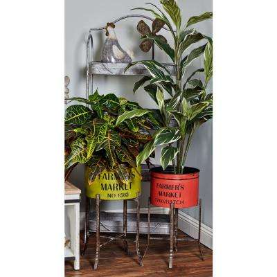 Multi Iron Planters with Stand (Set of 3)