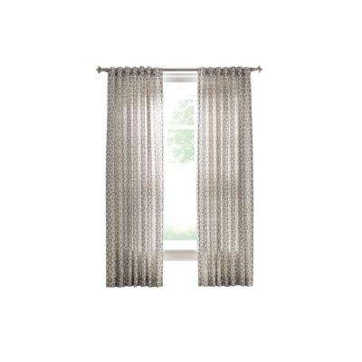 Cement Gray Full Bloom Back Tab Curtain