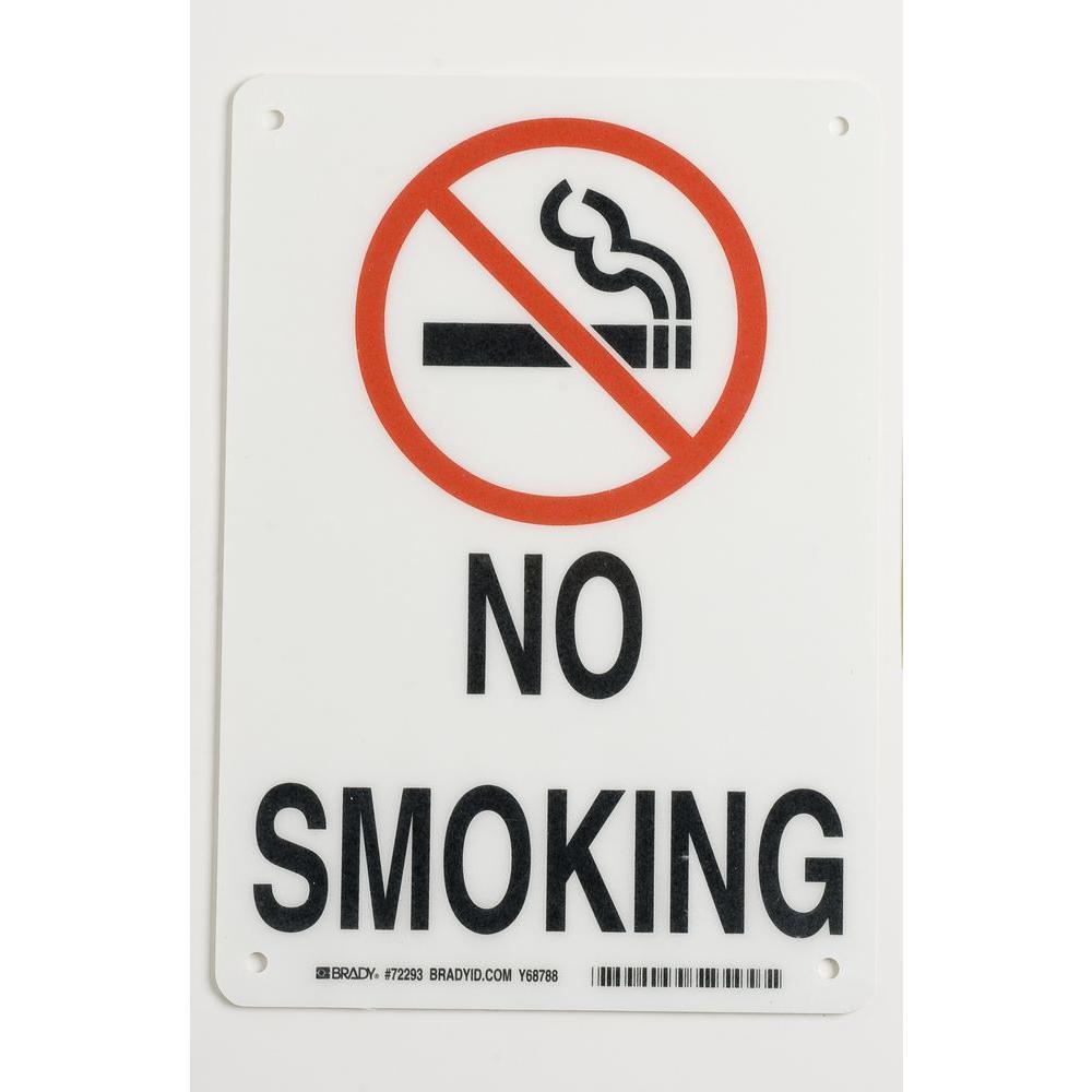 Brady 10 in. x 7 in. Fiberglass No Smoking Sign