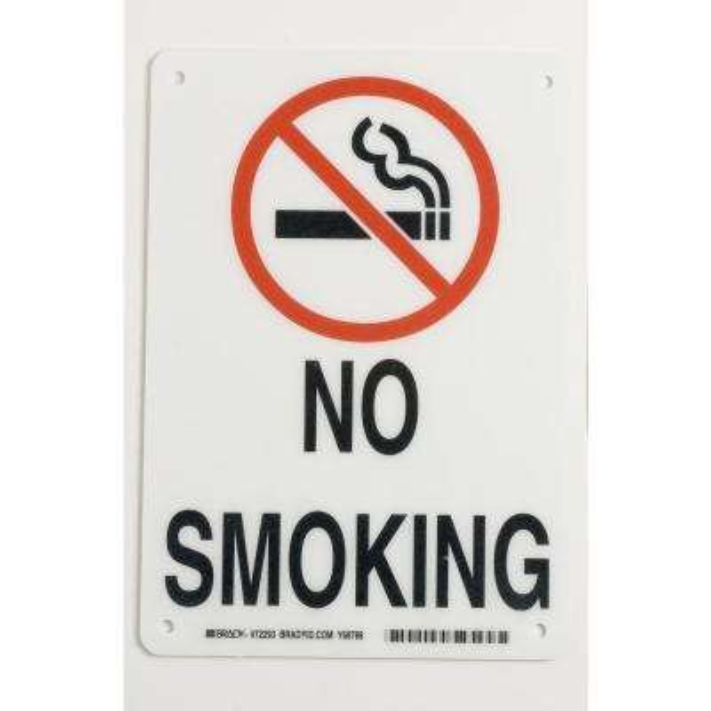 10 in. x 7 in. Fiberglass No Smoking Sign