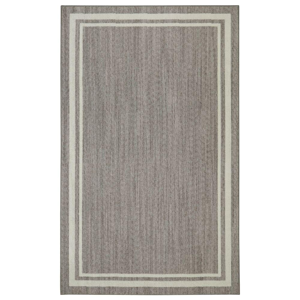 Border Loop Grey/Cream 5 ft. x 8 ft. Indoor Area Rug