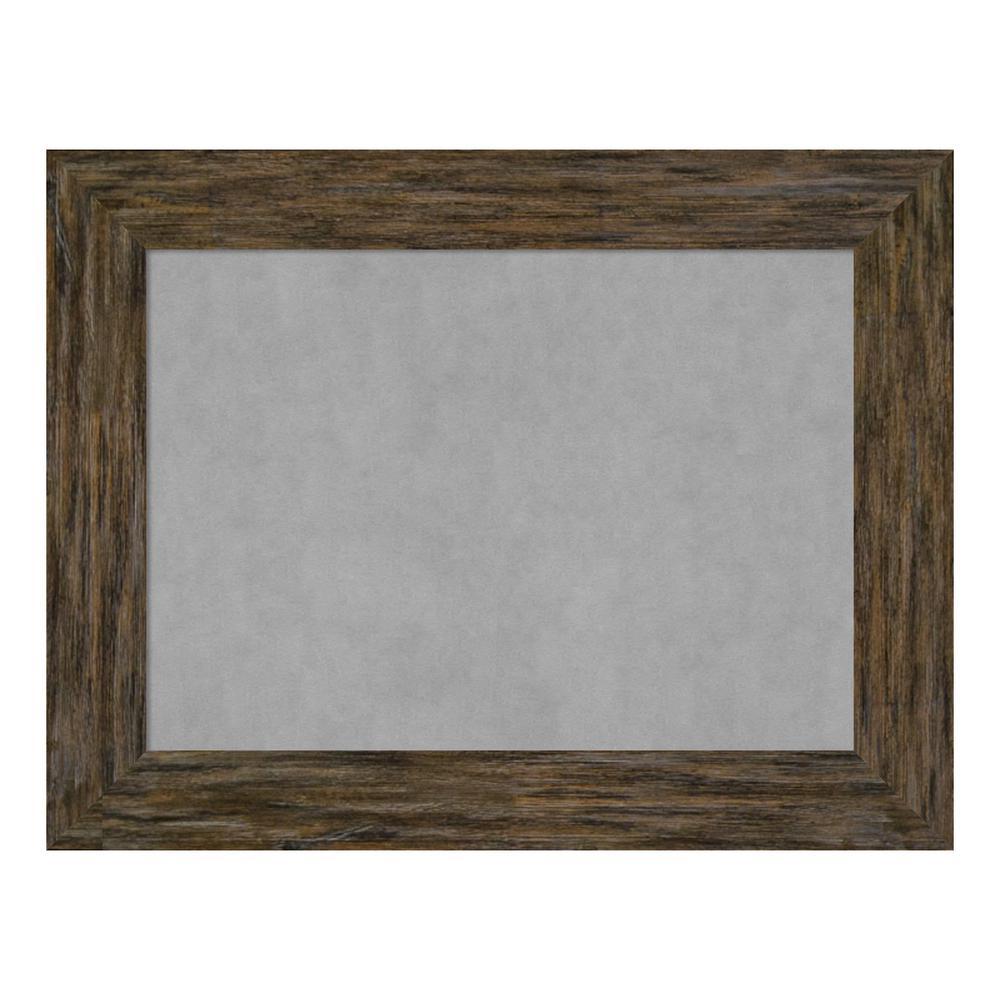 Amanti Art Fencepost Brown Framed Magnetic Memo Board DSW4094196