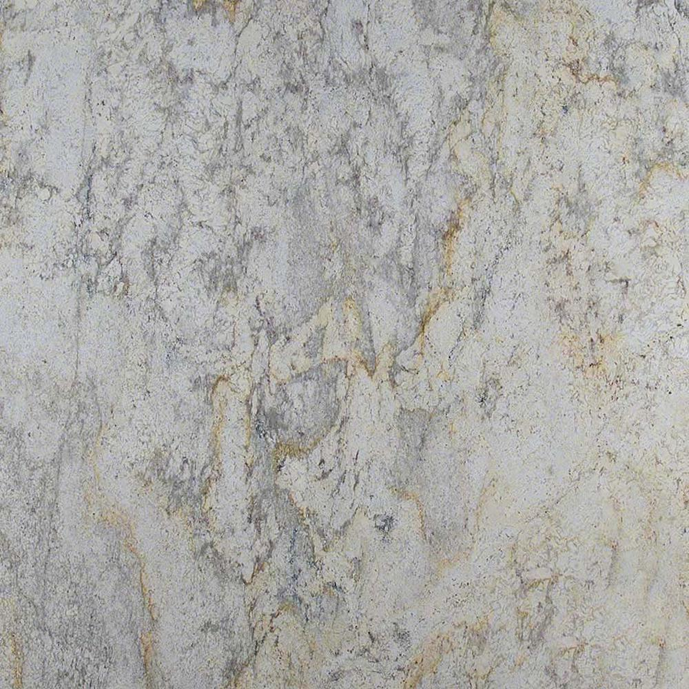 Stonemark 3 in  x 3 in  Granite Countertop Sample in Aspen White