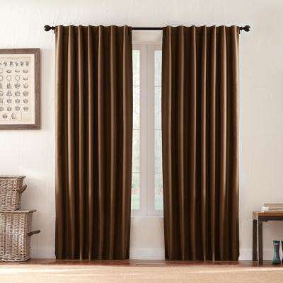 Textured Thermal Room Darkening Window Panel in Brown - 42 in. W x 84 in. L