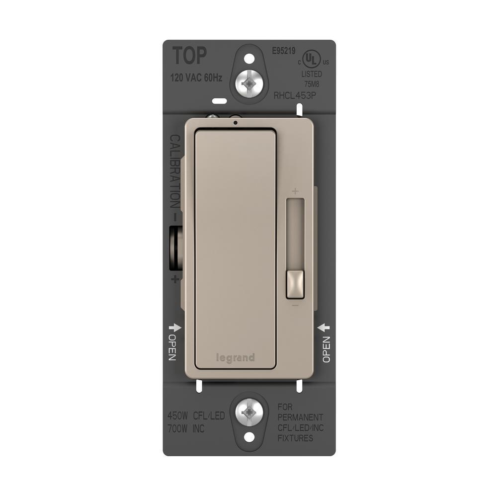 radiant 450 Watt Single Pole/3-Way LED/CFL/Incandescent Dimmer, Nickel