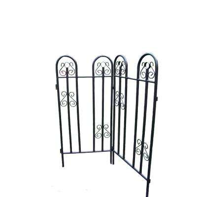 48 in. Metal Garden Fence (2-Piece)