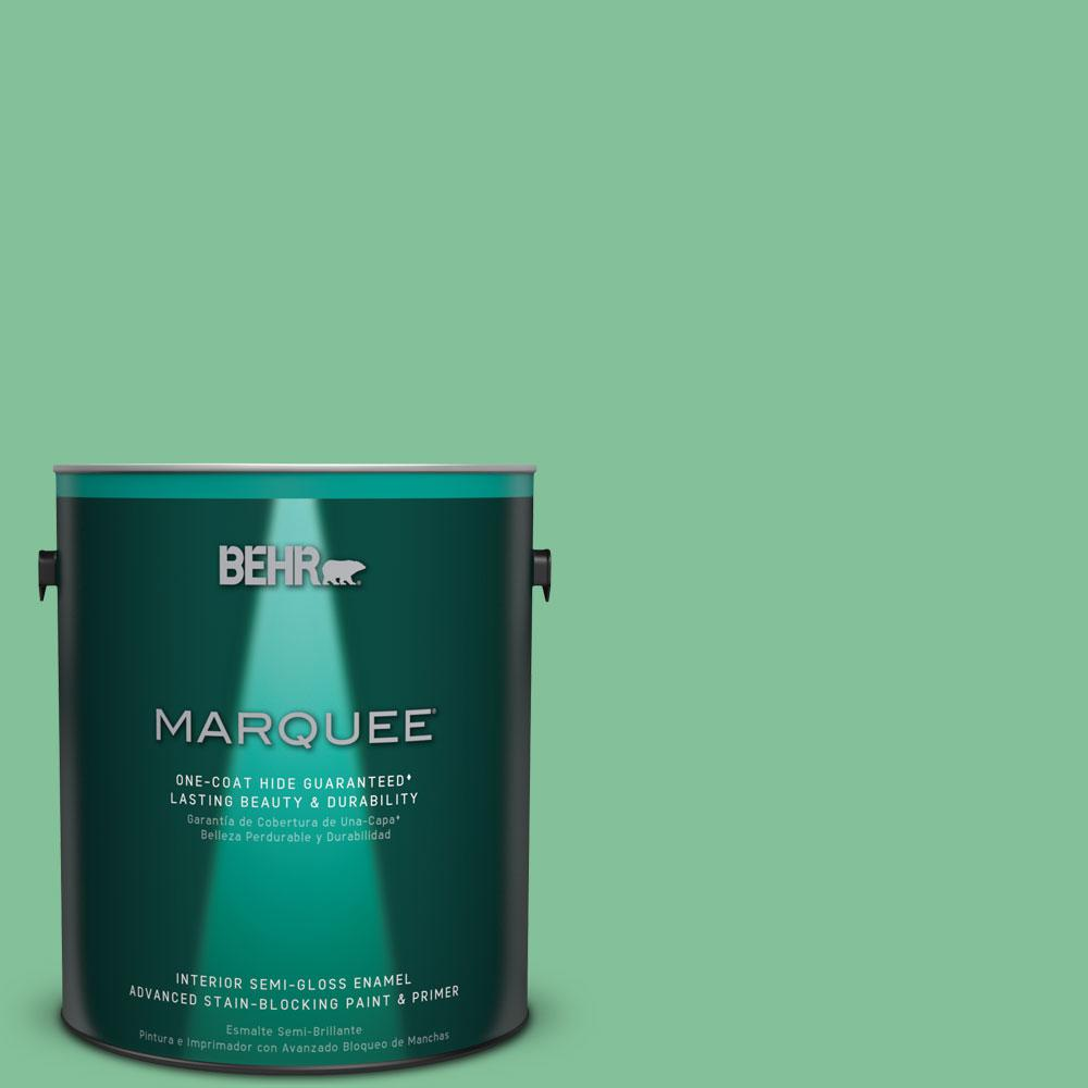 1 gal. #P410-4 Willow Hedge One-Coat Hide Semi-Gloss Enamel Interior Paint