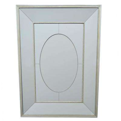35.5 in. Mirror with Wood Frame in Champagne