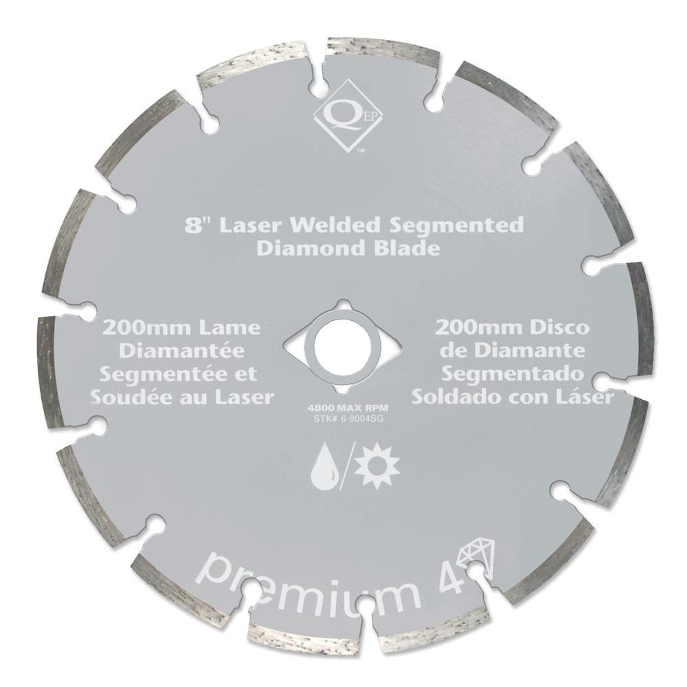 QEP 8 in. Segmented Diamond Masonry Blade-DISCONTINUED