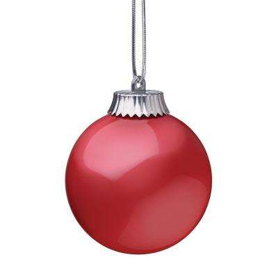 5 in. Red LED Outdoor Hanging Globe Ornament