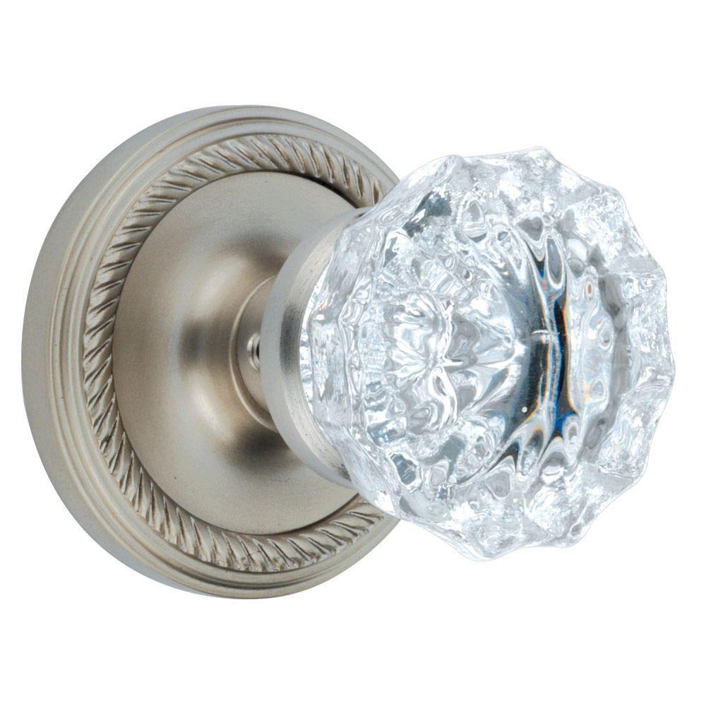 Nostalgic Warehouse Satin Nickel Crystal Full Dummy Knob
