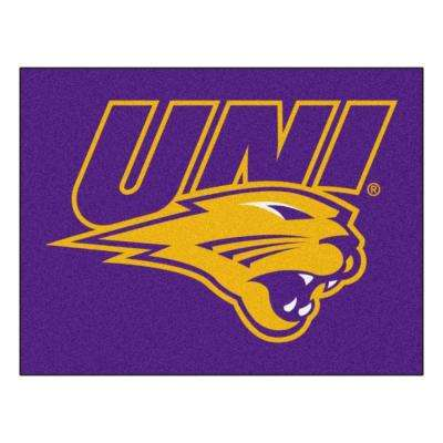 NCAA University of Northern Iowa Purple 2 ft. 10 in. x 3 ft. 9 in. Accent Rug