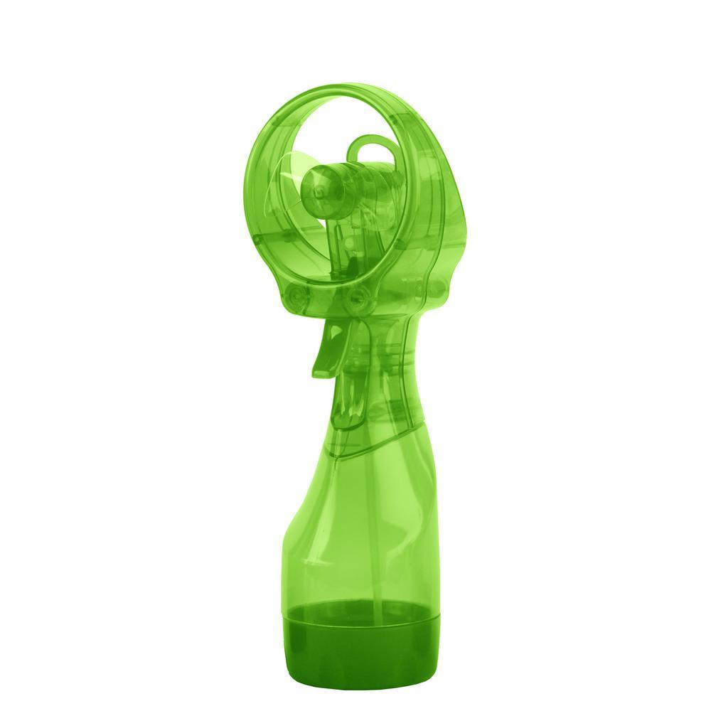 Deluxe 3.07 in. Water Misting Fan in Green