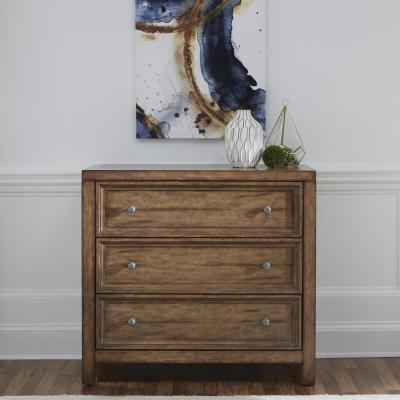 Sedona 3-Drawer Toffee Brown Chest