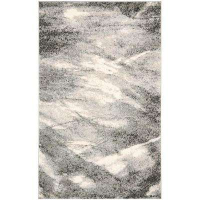 Retro Grey/Ivory 5 ft. x 8 ft. Area Rug