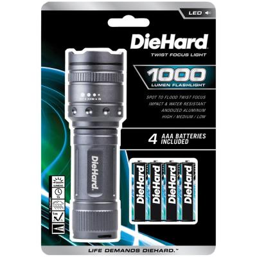 1,000 Lumens Twist Focus Flashlight