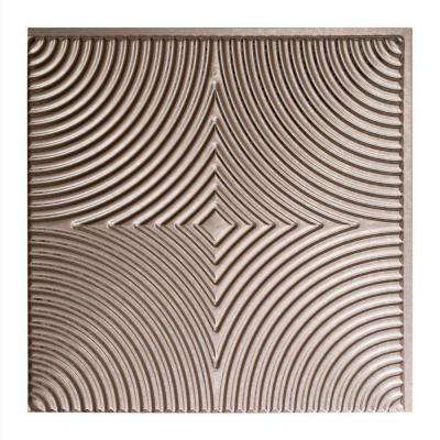 Echo - 2 ft. x 2 ft. Glue-up Ceiling Tile in Galvanized Steel