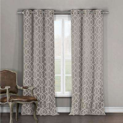 Harris Taupe Blackout Grommet Panel Pair - 36 in. W x 96 in. L in (2-Piece)