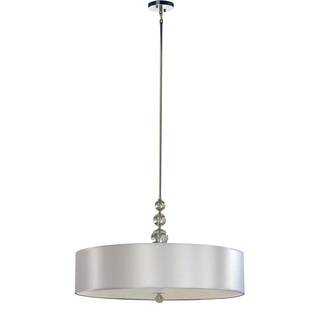 Aurora lighting 5 light chrome chandelier with pristine white fabric aurora lighting 5 light chrome chandelier with pristine white fabric shade arubaitofo Image collections