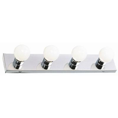 4-Light Polished Chrome Vanity Light