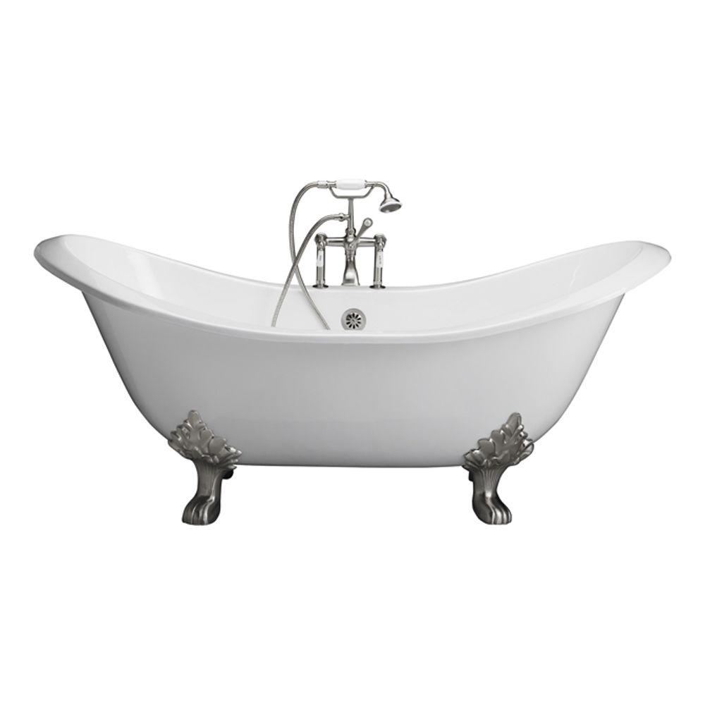 Barclay Products 5.9 ft. Cast Iron Lion Paw Feet Double Slipper Tub ...