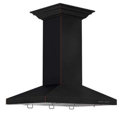 ZLINE 36 in. Island Mount Range Hood in Oil-Rubbed Bronze