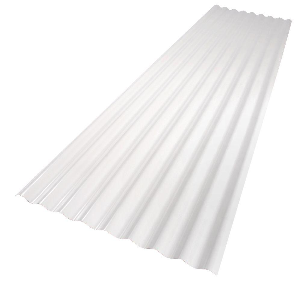 palruf 26 in x 12 ft white pvc roof panel 101339 the home depot