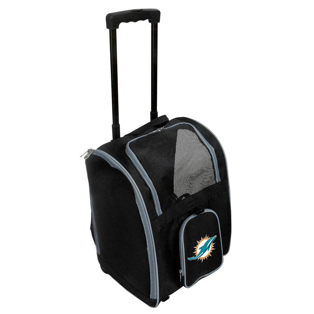 c05d9caa68 Denco NFL Miami Dolphins Pet Carrier Premium Bag with wheels in Gray ...