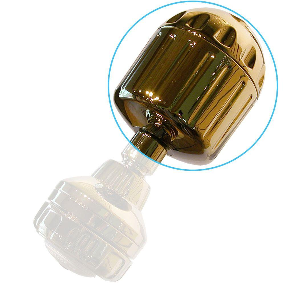 null High Output2 3-1/2 in. Shower Filter in Gold
