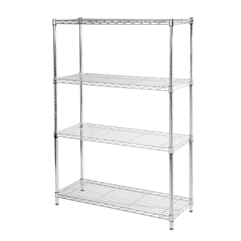 Seville Classics 4-Tier 36 in. W x 54 in. H x 14 in. D Commercial Steel Shelving System