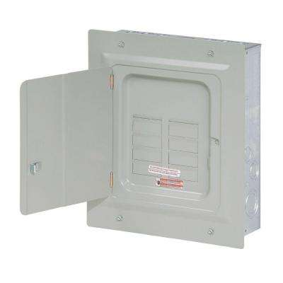 BR 125 Amp 6-Space 12-Circuit Indoor Main Lug Loadcenter with Flush Door