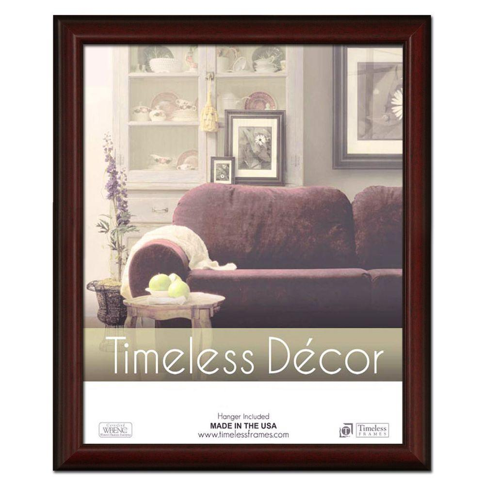Huntley 1-Opening 16 in. x 20 in. Cherry Picture Frame