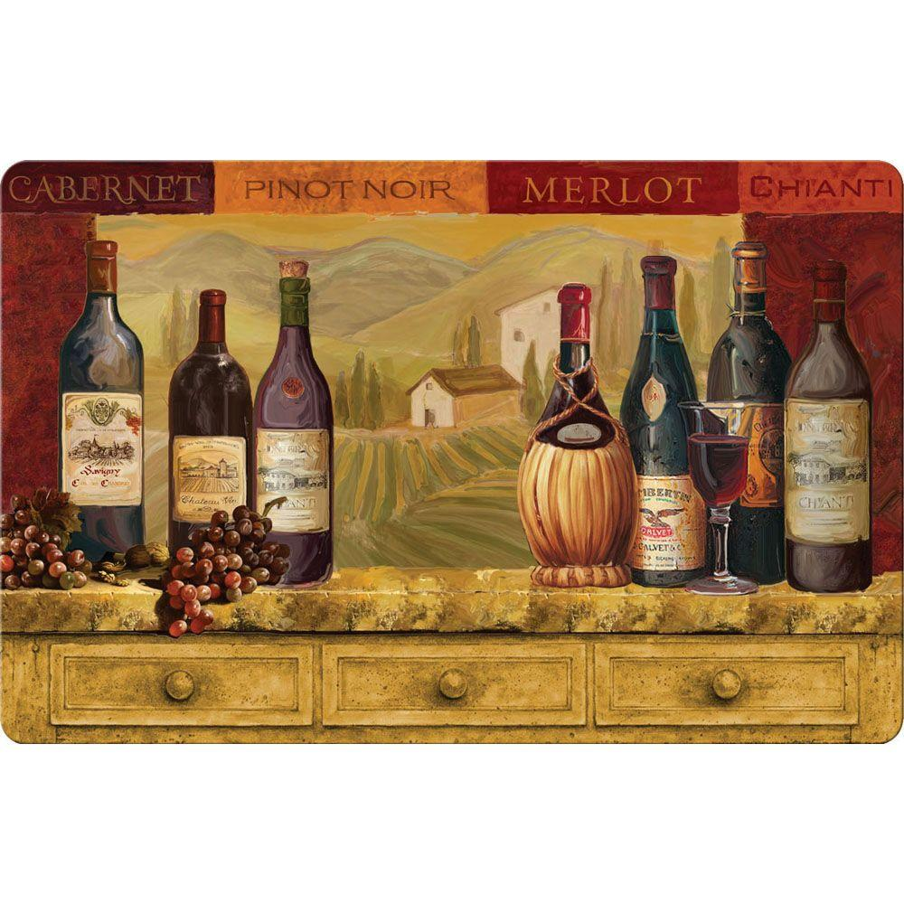 apache mills vino firenze cushion comfort 22 in x 34 in foam mat - Cushion Kitchen Mats