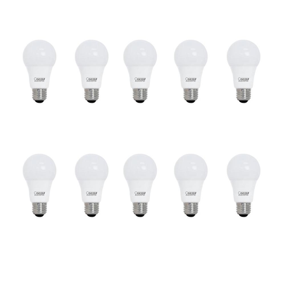 60-Watt Equivalent A19 CEC Title 24 LED Energy Star 90+ CRI Flood Light Bulb, Daylight (10-Pack)