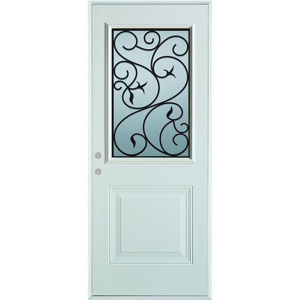 Stanley Doors 37 375 In X 82 375 In Silkscreened Glass 1
