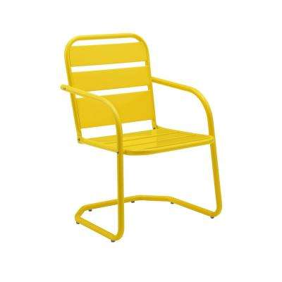 Brighton Yellow Metal Outdoor Lounge Chair (2-Pack)