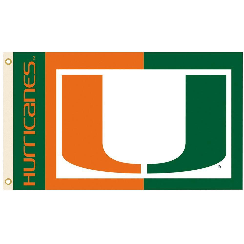 BSI Products NCAA 3 ft. x 5 ft. Miami Flag