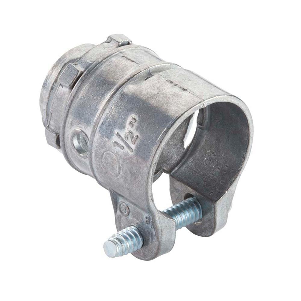 Halex 1/2 in. Flexible Metal Conduit (FMC) Squeeze Connector (25-Pack)